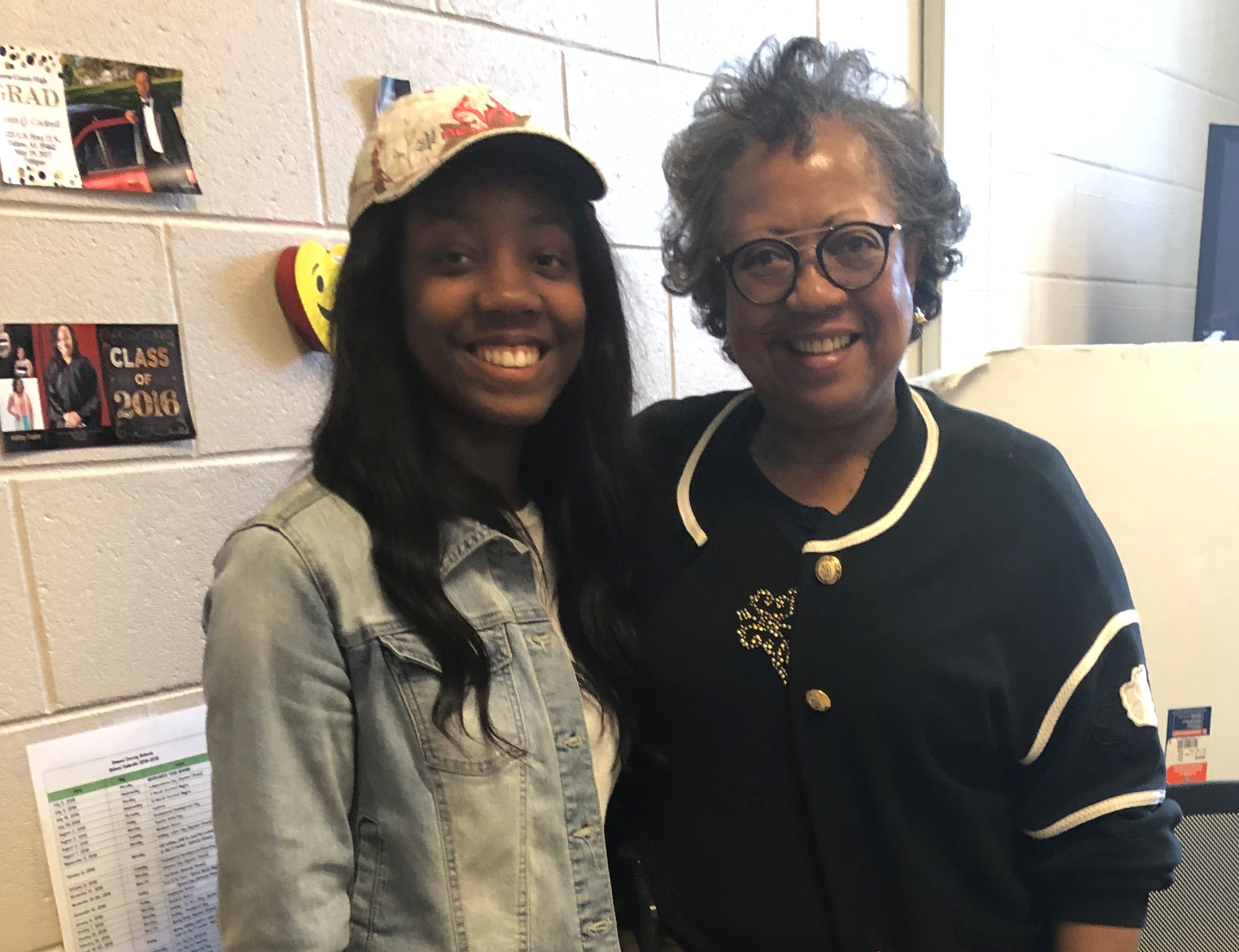 GCHS student Briannah Hudson with Ms. Gilda Jowers